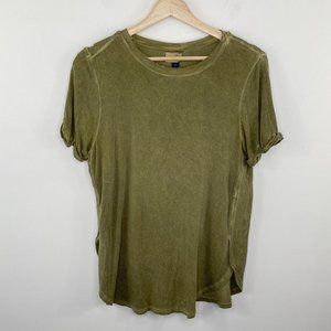 Universal Thread Green Short Sleeve Rounded Tee S